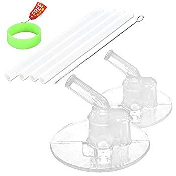 Replacement Straws Set for Thermos Funtainer 12 Ounce Bottle  Model F401  - 2 Pack Replacement Straws for Thermos Kids