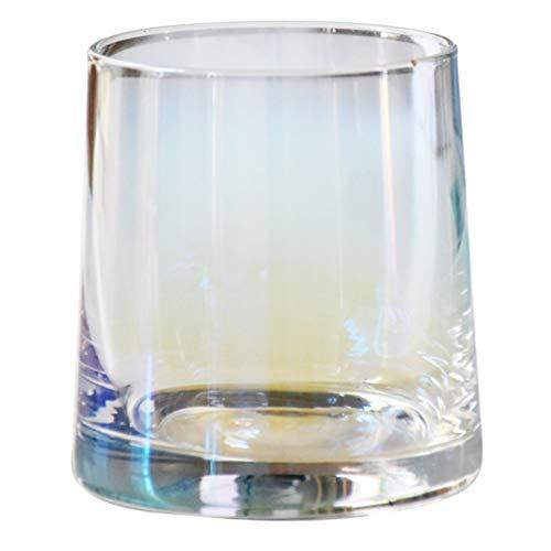 Kisangel Whisky Gläser Kristall Whisky Becher Felsen Gläser Cocktail Becher Trinkbecher Barware Glaswaren für Cocktail Getränke Malz Bourbon Schnaps 270Ml