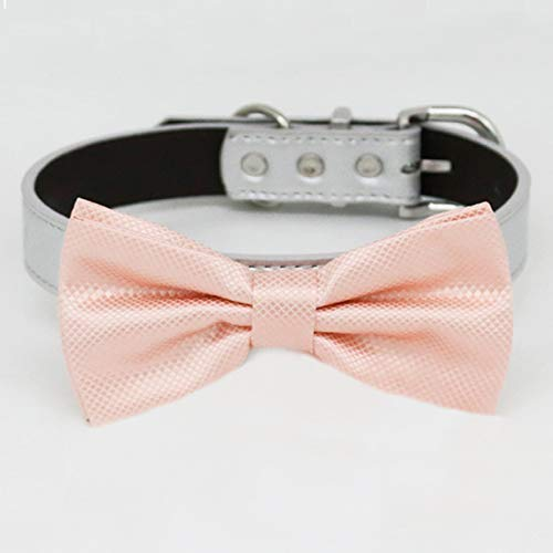 Pearl Blush bow tie collar adjustab to XXL Omaha Mall Genuine Free Shipping XS and