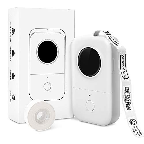 Phomemo D30 Etikettendrucker Aufkleber Maschine - Schneller Thermo-Etikettendrucker Prägnantes Design Beschriftung Sticker Maker für Preis Name Dokument Schmuckdrähte, kompatibel mit iOS Android, Weiß