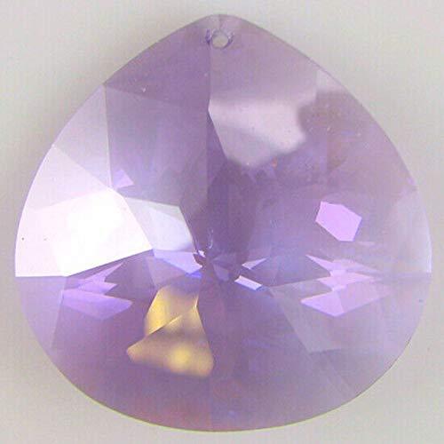 30mm Faceted CZ Cubic Zirconia briolette Pendant Violet