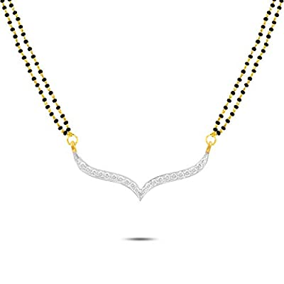 P.N.Gadgil Jewellers 18k Yellow Gold and Diamond Double Chain Tanmaniya Pendant