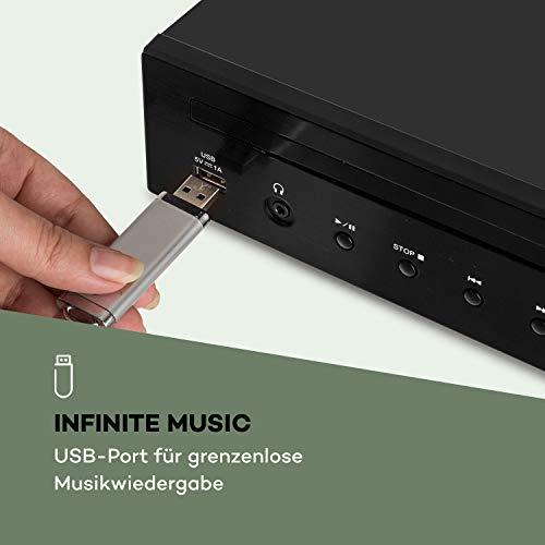 auna iTuner CD HiFi-Receiver - Internet-Radio , FM Radio , DAB+ , CD-Player , viele Anschlüsse , WiFi , Spotify Connect , UNDOK-App , USB , TFT-Farbdisplay , inkl. Infrarot-Fernbedienung , schwarz