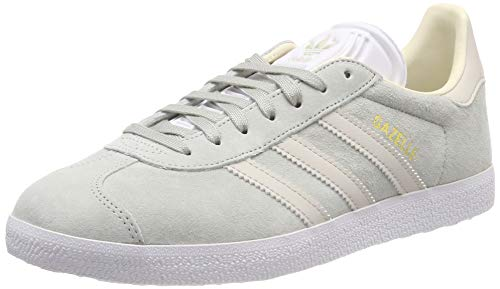 adidas Gazelle W, Scarpe da Ginnastica Donna, Argento (Ash Silver/Clear Brown/Ecru Tint S18), 36 EU