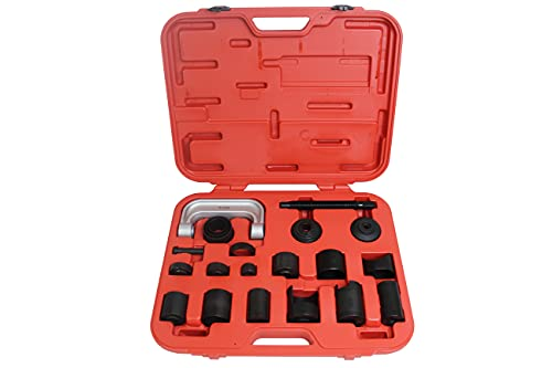 K Tool International Ball Joint Service Tool and Master Adapter Set; Remove and Replace Ball Joints, C-Frame Press, Multi-Vehicle Use; - KTI71556