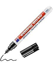 edding 8040 marker do ubrań – czarny – pudełko 10 szt. – zaokrąglony, 1 mm – marker do materiału odporny na pranie (95°C) – malowanie tkanin – marker wodoodporny – edding textilmarker
