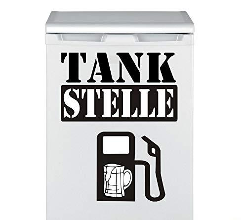 Pegatina Promotion Hochwertiges Aufkleber Set Männer Kühlschrank Aufkleber 70 X 50 cm Tankstelle Zapfsäule Bier Glas Tattoo Kühlschranktattoo Gefrierschrank Aufkleber mit Verklebehilfe