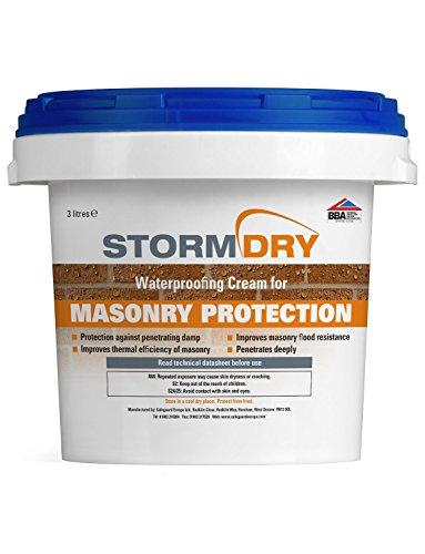 Safeguard Europe Stormdry - Crema protettiva per muratura, 3 l, The Only BBA & EST certificata Brick Impermeabilizzante – Protezione comprovata 25 anni contro l'umidità penetrante