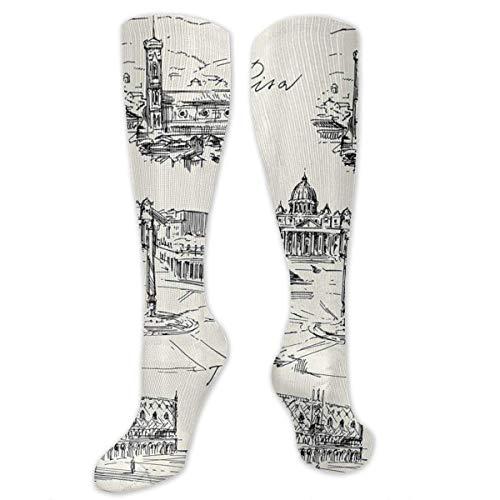 winterwang Venice Rome Florence Pisa Calcetines de compresin para hombres y mujeres: las mejores medias para correr, viajar, espinilleras, enfermeras,