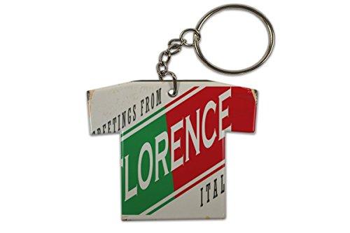 LEotiE SINCE 2004 Schlüsselanhänger Fernweh Stadt Florenz Italien Trikot bedruckt