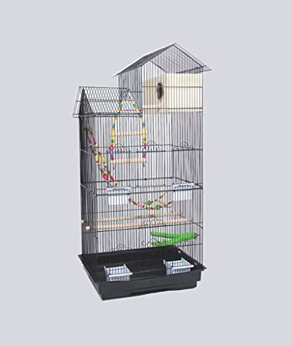 FTFDTMY Gabbie per Uccelli in Stile House, scatole per Allevamento di Uccelli, Gabbie per Uccelli per canarini, parrocchetti di monaci, piccioni (Colore: D, Dimensioni: 46 * 36 * 100 cm)