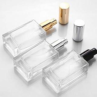 LGYLucky 5pcs 15 ml 30 ml 50 ml Caso Botella pulverizador Botellas vacías de Vidrio Transparente de Perfume Recargable de Perfume con Las Carreras portátil,Negro,30ml