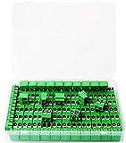 RUNCCI-YUN 100Pcs Tornillo de montaje de PCB de 2 polos, Conector de Bloque de