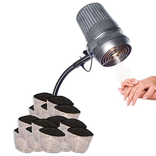 New and Improved Sunflower II LED Nail Dust Collector with 12 Extra Filters