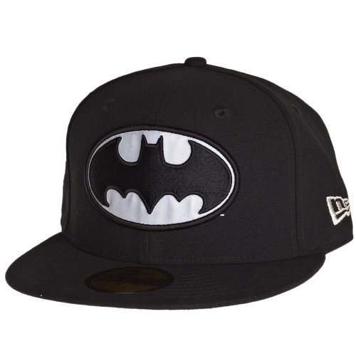 New Era Hero Reflect Batman Cap 5950 Basic Fitted Basecap Cap Kappe(7 - 55,8cm)