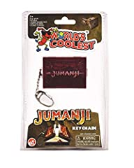 The World's Coolest Jumanji Novelty Keychain is based on the original game that inspired the popular fantasy adventure hit movies An accurate miniature version features the center opening box and the distinctive game board Also features 1 set of dice...