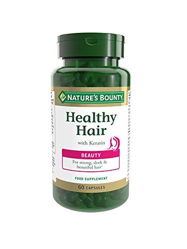 Nature's Bounty | Healthy Hair con Queratina | Cabello fuerte y elegante | 60 uds
