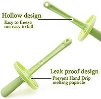 SUFUS Stampi per Gelato, Stampi ghiaccioli Stampi per Gelati 6 Produttori di Ghiaccioli, FDA e BPA Gratis, Ideale per la Preparazione di ghiaccioli, Gelati, sorbetti (Verde) #4