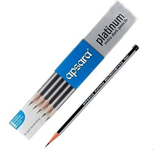 1 X 20 Apsara Extra Dark School Wooden Pencil Hb Black + 2 Sharpener + 2 Erasers Lot