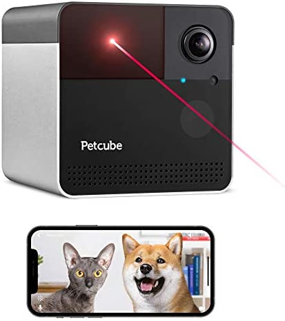 [New 2020] Petcube Play 2 Wi-Fi Pet Camera with Laser Toy & Alexa Built-In, for Cats & Dogs. 1080P HD Video, 160° Full-Room View, 2-Way Audio, Sound/Motion Alerts, Night Vision, Pet Monitoring App