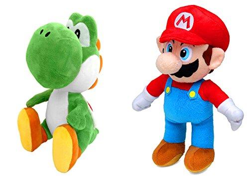 Super Mario/Nintendo 28S3 Mario (30 cm) und Yoshi(27 cm) Plüsch, Plüschtiere, 2 Figuren erhältlich (Super Mario und Yoshi), Rot und Blau (Grün und Weiß)
