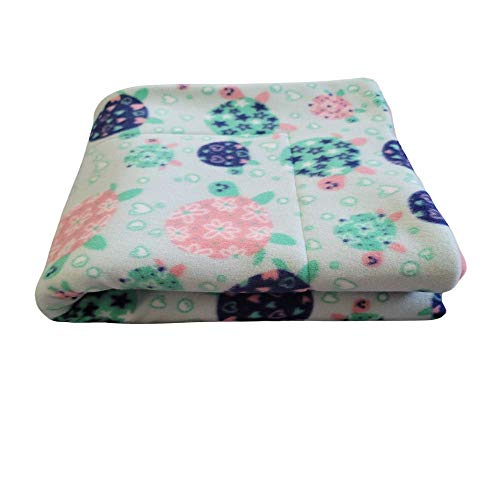 Courtney's Handmade Pet Bedding Fleece Cage Liner | Multiple Prints & Sizes | Midwest | C&C | Guinea Pig Fleece | Hedgehog Fleece | Reversible | Machine Washable (Midwest (47'x 24'), Pastel Turtles)