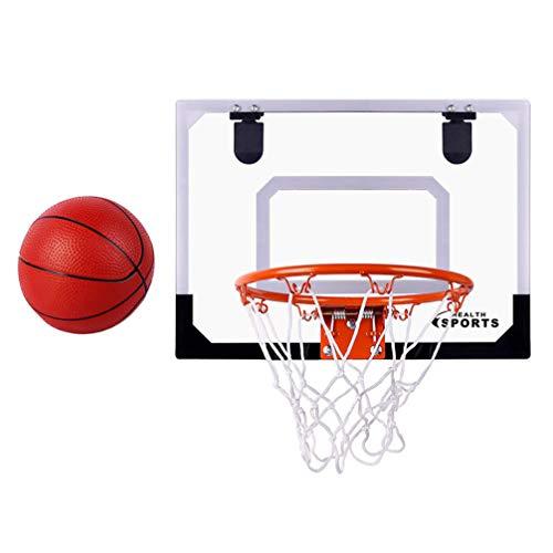 TOYANDONA 1 Juego de Aros de Baloncesto para Interiores para Niños Juego de Portería de Baloncesto Montado en La Pared Accesorios Completos Juguetes de Baloncesto Regalos para Niños Y