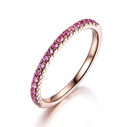 Ubestlove Engagement Ring Rose Gold Christmas Gifts For Women Clearance Round Ring P 1/2