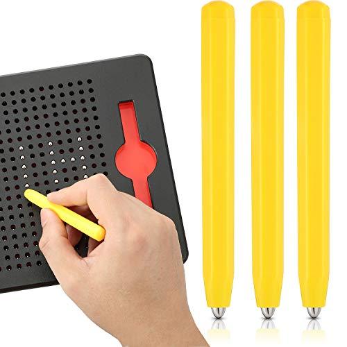 Outus 3 Stücke Ersatzstift Magnetischer Zeichenstift Magnet Ersatz Stifte für Magnetisches Zeichenbrett Magnapad A bis Z und Nummern 0 bis 9, Gelb