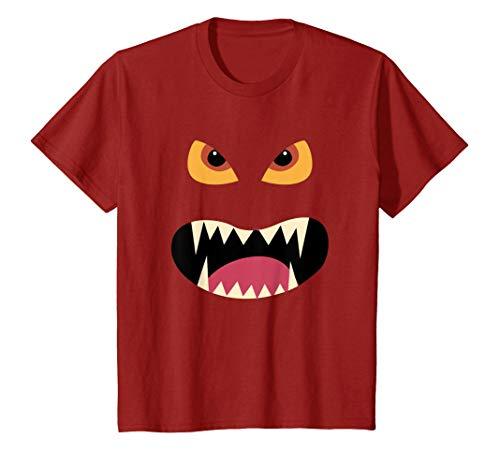 Niños Divertido Disfraz Halloween Dulce Cara de Miedo Monstruo Camiseta