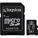 Kingston Canvas Select Plus Tarjeta microSD, SDCS2/64GB Class 10 con Adaptador SD, Negro