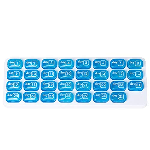 DOITOOL Travel Pill Container 1pc Keyboard Pill Organiser Box One Month Medicine Tablet Storage Dispenser 31 Day for Travel Business Daily Use