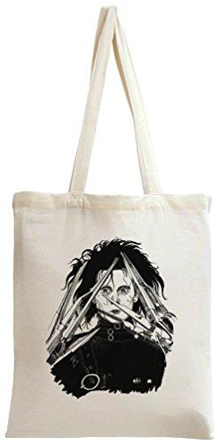Edward scissorhands portrait Tote Bag