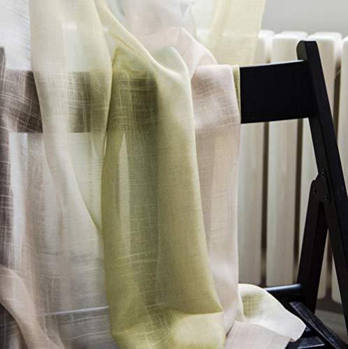 PENVEAT Rayas de Color Cortinas de Alta Sombra para Sala de Estar Dormitorio Cortinas de Cocina Tulle Custom Mediterranean Style Home Decor wp109-40, Color 02 Tulle, W450CM X H260CM, Gancho