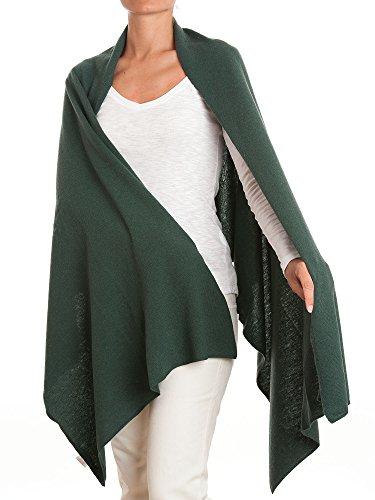 DALLE PIANE CASHMERE - Stola in misto cashmere - Donna, Colore: Verde, Taglia unica
