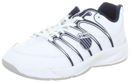 K-Swiss OPTIM CARPET IV 52781-109-M, Unisex-Kinder Tennisschuhe, Weiß (White/Navy), EU 33.5 (UK 1.5)