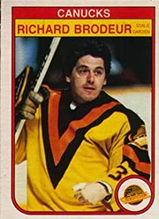 1982 O-Pee-Chee Regular (Hockey) Card# 339 Richard Brodeur of the Vancouver Canucks NrMt Condition