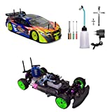 YDYL-LI 4Wd Nitro Rc Car, 1/10 Th Scale Oil-Driven Methanol Remote Control Buggy, with 75Cc Fuel Tank and 2.4G Remote Control, Cross Country Simulation Car Model for Adult