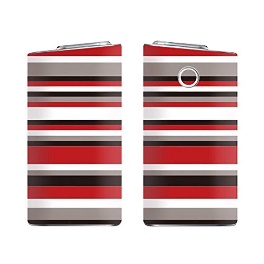 求人帰するぺディカブガールズネオ glo mini グローミニ シリーズ2 series2 スキンシール ラミネート加工有 全面セット (ボーダー/レッド×ブラック) glomini-COM-5019