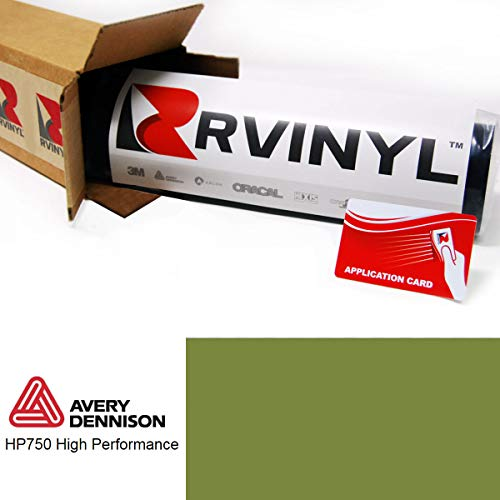 Avery HP750 Olive Green 765 1ft x 1ft High Performance Graphic Vinyl Film Sheet Roll - for Cricut, Silhouette Cameo, Craft and Sign Cutters