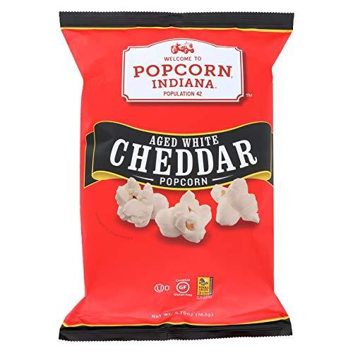 Buy Popcorn Indiana Popcorn - Aged White Cheddar - Case of 12 - 5.75 oz.