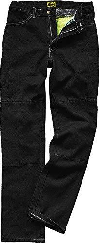 Draggin Jeans Classic Black Motorrad-Hose mit Kevlar-Innenteil - Dyneema - high Riese relaxe fit, Farbe:schwarz, Größe:44