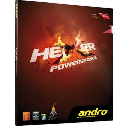 ANDRO Belag Hexer Powersponge Optionen 1,9 mm, rot
