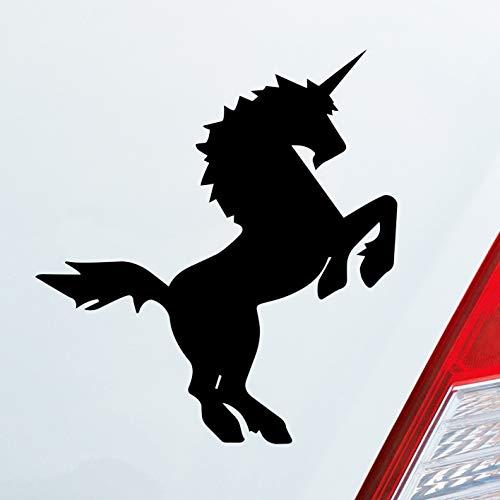 Auto Aufkleber in deiner Wunschfarbe Einhorn Last Unicorn Pferd Pony 10x11cm Autoaufkleber Sticker...