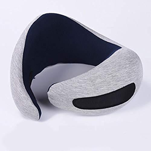 Almohada de Avestruz Almohada de Viaje de Lujo, Utilizada para Accesorios de Viaje de Espuma de Memoria con Soporte de Cuello de avión, Almohada de Siesta de Lujo