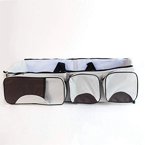 petit chariot portatif matelas pliable voyage berceau sac de couches de remplacement et de 0 à 12 mois lit d'enfant portatifs,le riz blanc