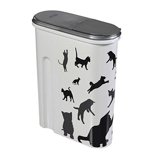 Curver 03903-P95-10 Futter-Container, 1.5 kg/4.5 L, weiß/schwarz