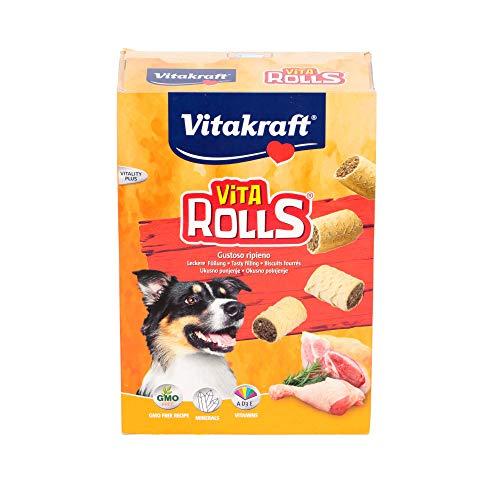 Vita Rolls Biscotti croccanti per Cani con Gustoso ripieno, 400g