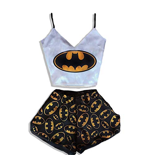 DC Comics Batman Pajamas for Girls Women Teen Sleepwear Best Silk Cotton Gifts for Her Girlfriend Funny Gifts Luxury Sexy PJ