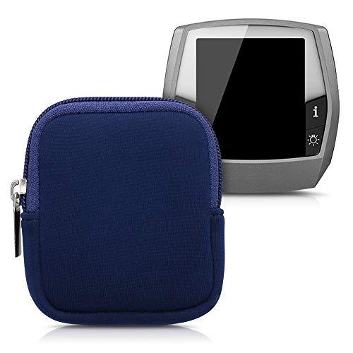 kwmobile Tasche kompatibel mit Bosch Intuvia - E-Bike Computer Neopren Hülle - Schutztasche Dunkelblau